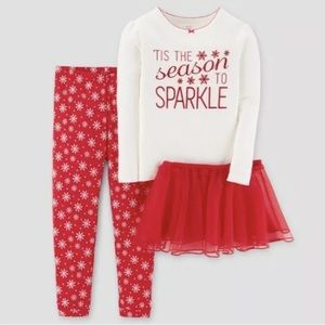 Carters Just One You Holiday Pajama Set 3-Piece